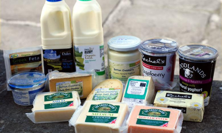 Dairy: cheeses, yoghurt, butter, milk & eggs