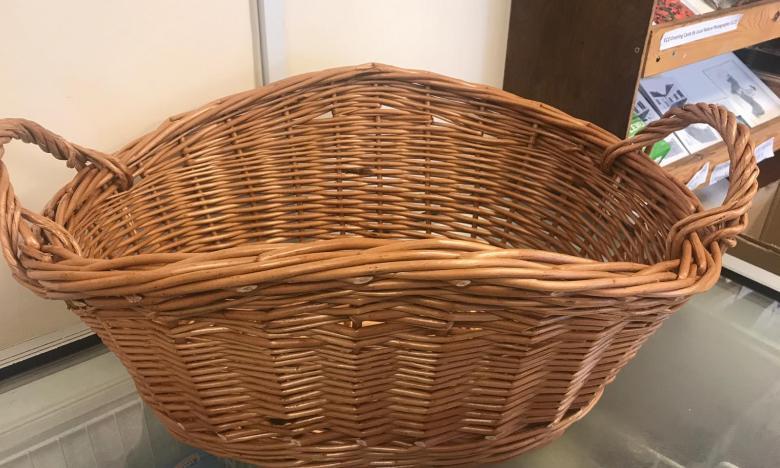 English Willow washing basket